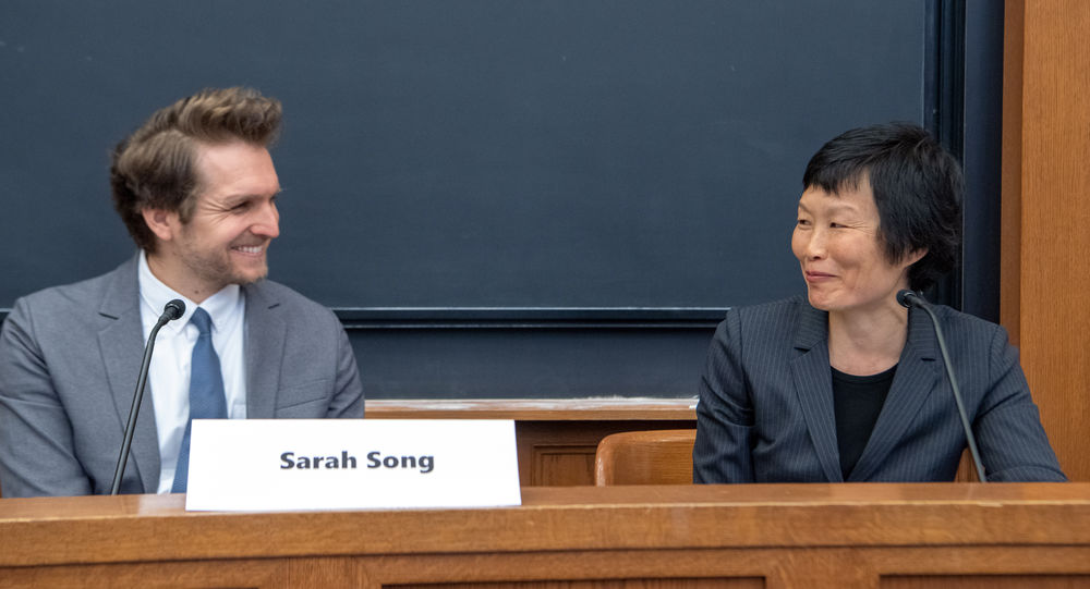 Sarah Song and Paul Linden-Retek discussed how relationships and power dynamics between states affect refugee resettlement.