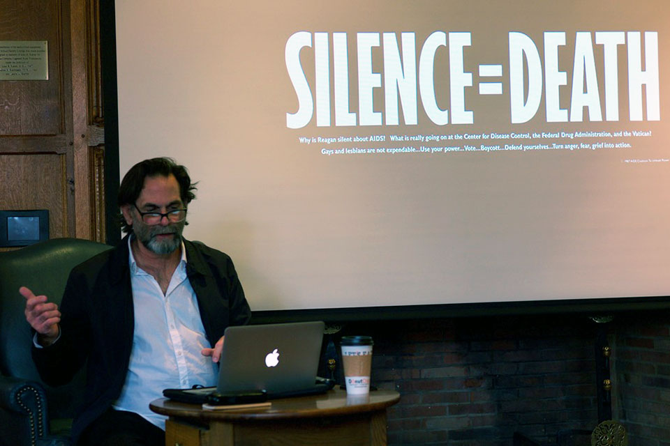 Avram Finkelstein Spoke on Resistance and Imagery