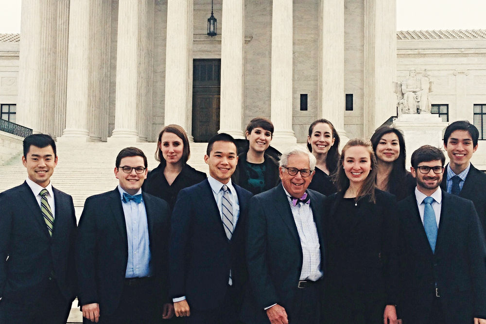 Lawrence Fox with the Ethics Bureau students