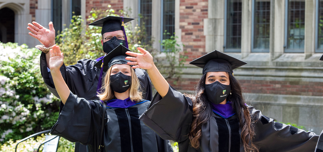 Students during Commencement 2021