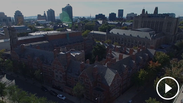 Video still of overhead of YLS campus