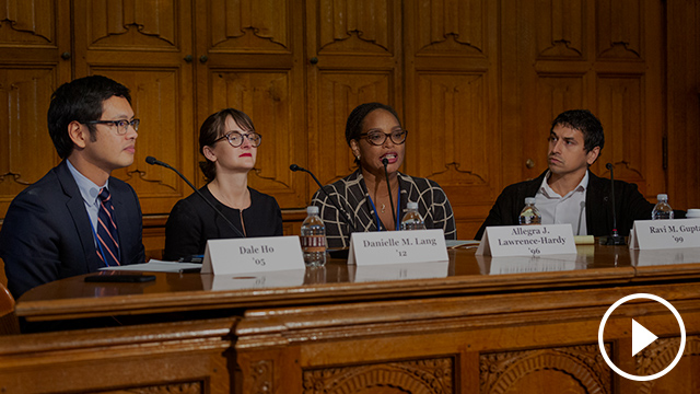 Alumni Weekend 2019: Voting Rights and Election Law Panel