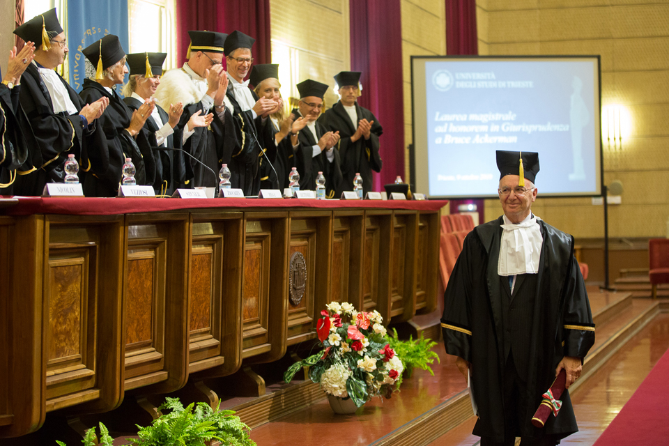 Professor Ackerman Receives Honorary Degree in Law from the University of Trieste