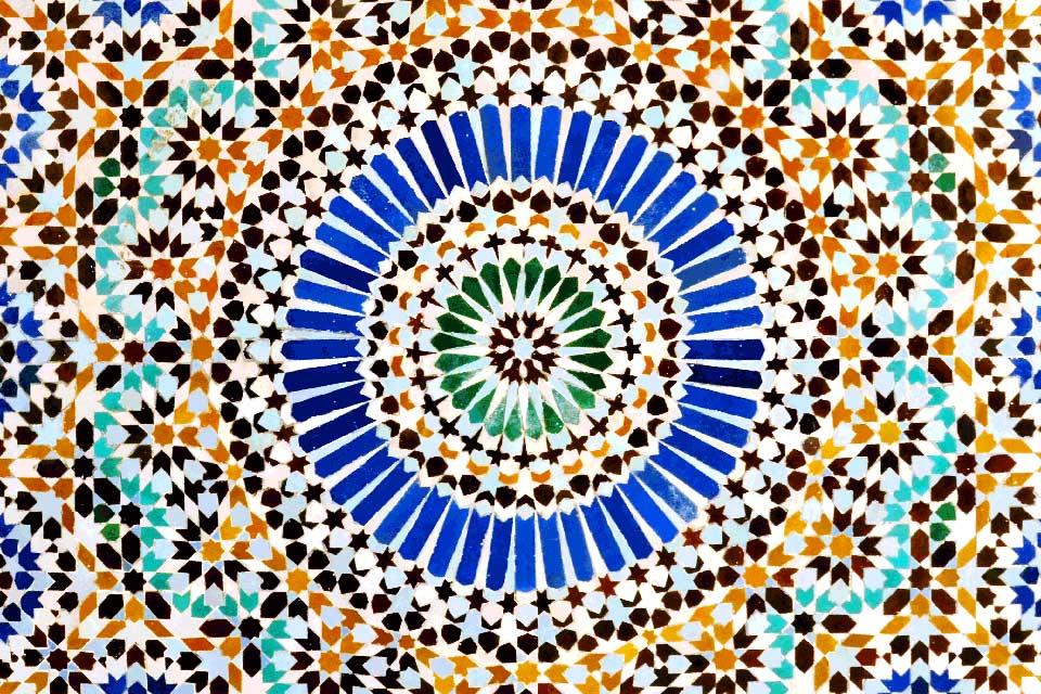 Islamic tile mosaic
