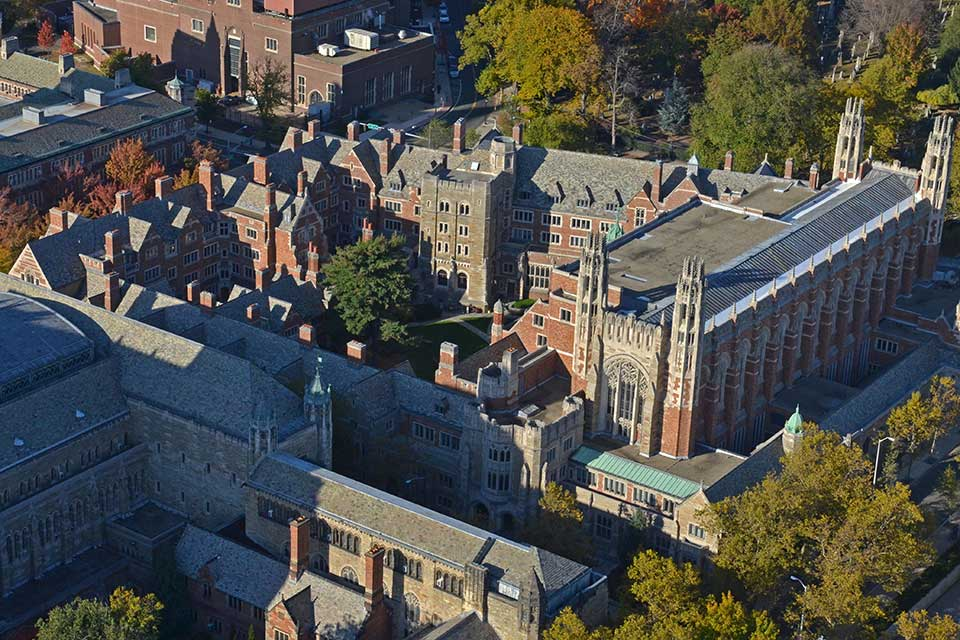 aerial view of Yale Law School