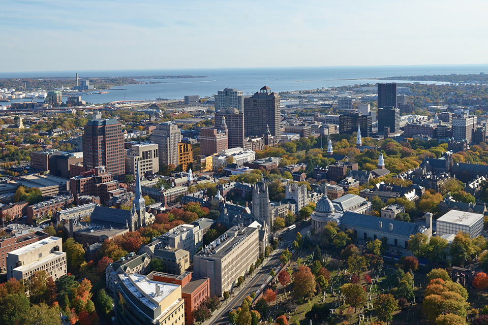 New Haven aerial view