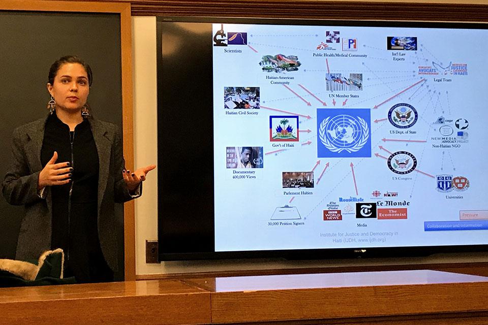 Sienna Merope-Synge Discusses U.N. Accountability in Haiti