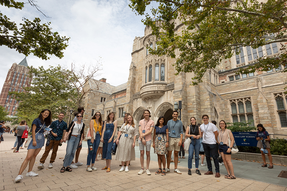 students out front of YLS