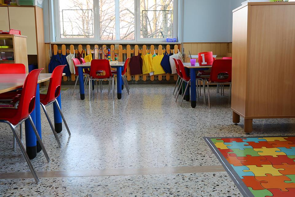 A kindergarten clasroom