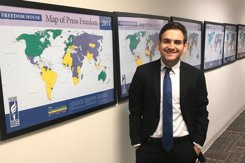 Yale Junior Spends Summer Learning about Democracy Promotion at Freedom House