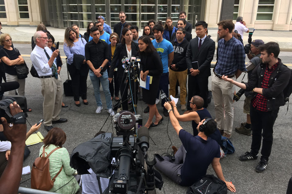 WIRAC Students Appear in Federal Court Over DACA Challenge