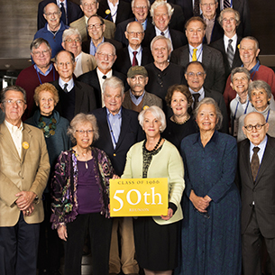 Photo of members of the Class of 1966 from Alumni Weekend 2016