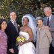 Bob and Helen Bernstein with Ahadi Bugg-Levine '98 on her wedding day with her husband, Antony Levine, and fellow Bernstein Fellow Jaya Ramji-Nogales '99.